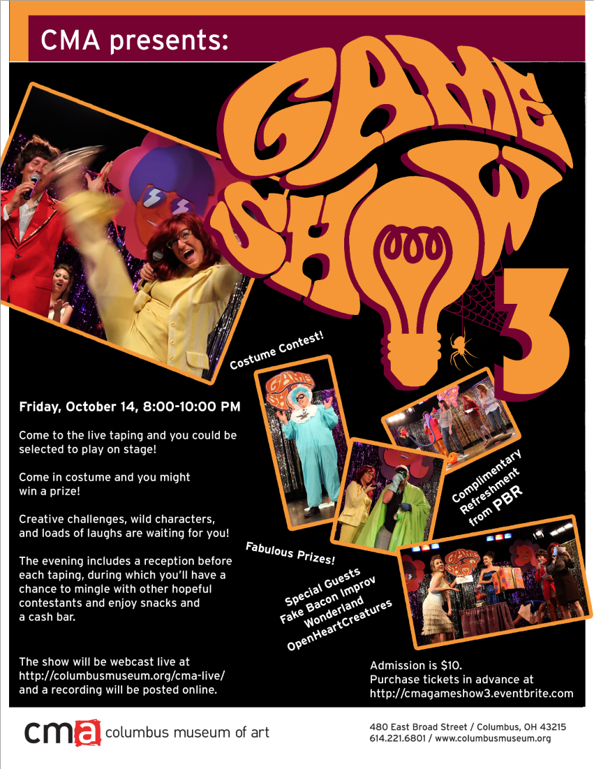 CMA Game Show 3 flyer