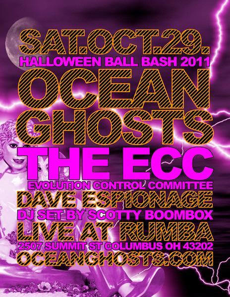 Ocean Ghosts show flyer