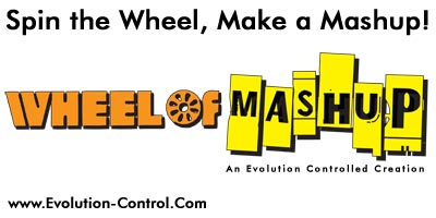 Wheel Of Mashup logo with URL and slogan