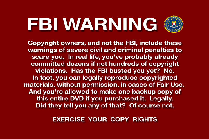 Altered FBI Warning