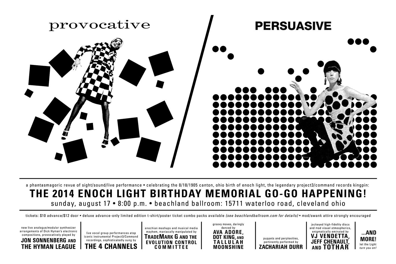 Enoch Light Birthday Memorial Go-Go Happening show poster