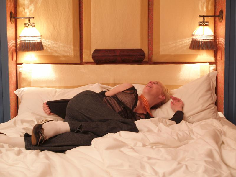 Christy Basks In Our Hotel Bed 3 Jpg